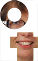 Frauenzeichen mit Frauenfoto