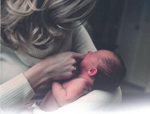 Foto von Mutter mit Baby