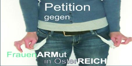 Logo Petition gegen Frauenarmut