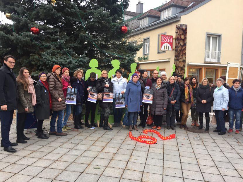 Aktion Frei leben - ohne Gewalt 2017 in Amstetten