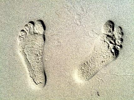 Foto von Fußabdrücken